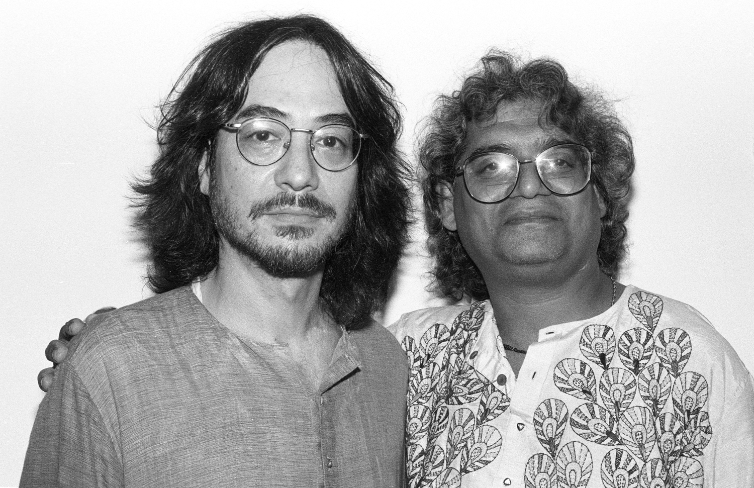 Ray Spiegel with Ramesh Mishra Woodstock, NY, August 1997