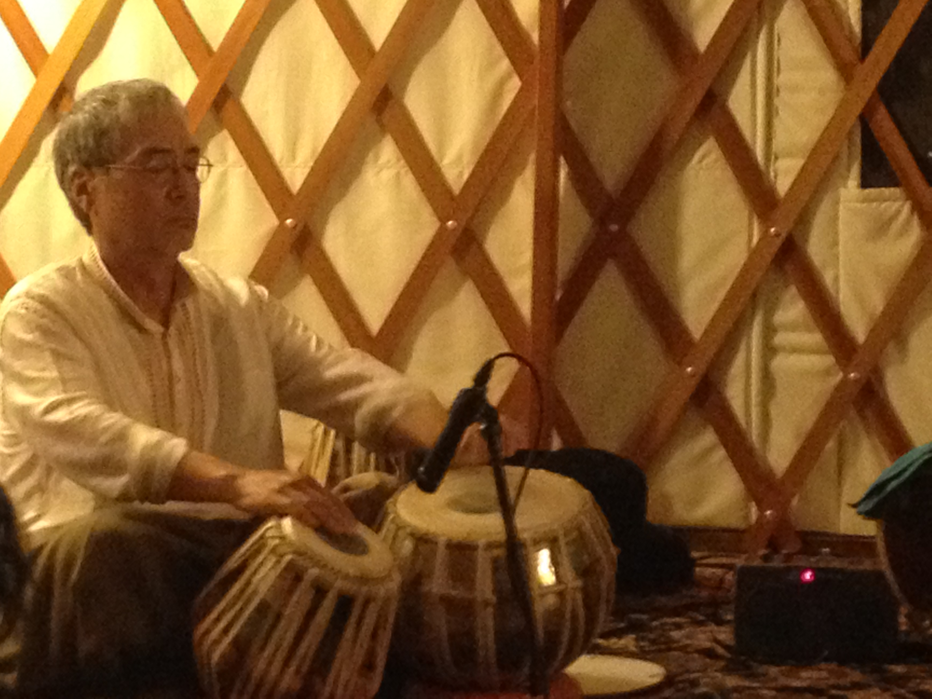 Ray plays Tabla