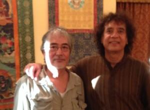 Ray with Zakir Husain, August 2015