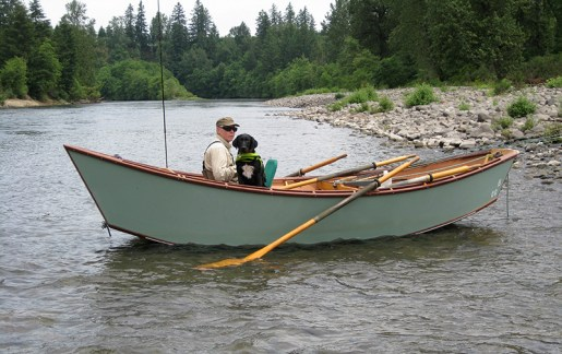Ray's River Dories Owner Ray Heater fly fishing in  Oregon coastal rivers