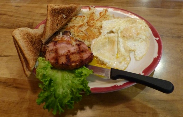 porkchop and eggs
