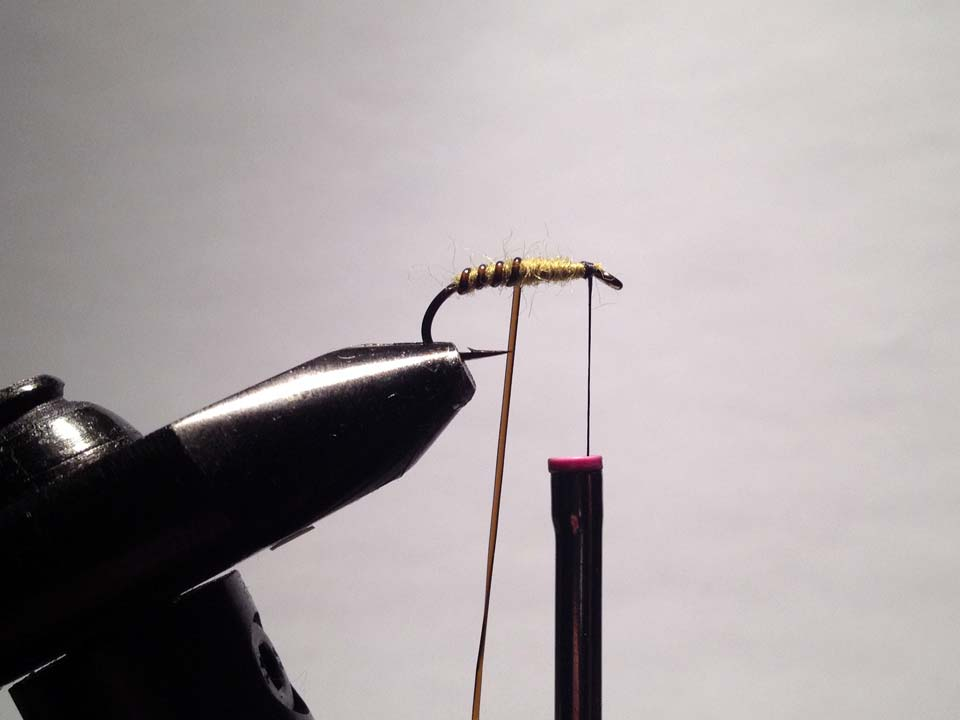 Olive Grizzly Dry Fly Step 9