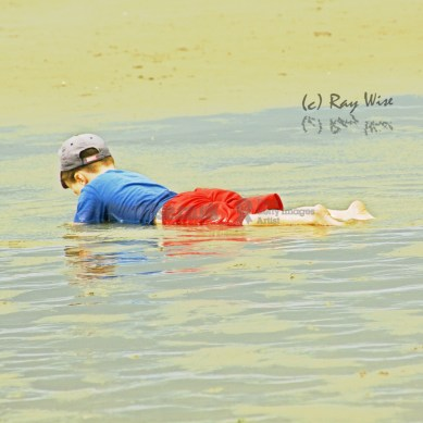 boy on beach