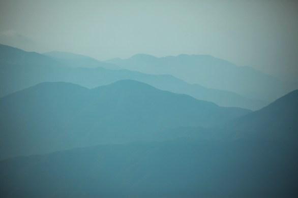Huangshan blue mountain view
