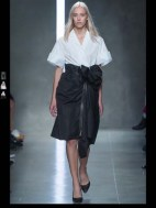 Bottega Veneta dark gothic elegant classic tailored ruffles earthy funky pop Spring Summer 2014 fashionweek paris london milan newyork nyc-1