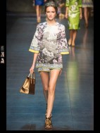 Dolce & Gabbana collection theme roman romanian empire Fashion Week Spring Summer 2014 paris milan london nyc newyork -106