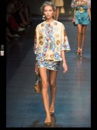 Dolce & Gabbana collection theme roman romanian empire Fashion Week Spring Summer 2014 paris milan london nyc newyork -95