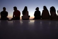 Friends watching Sunset