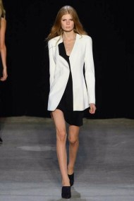 black and white suit classic chic spring summer 2015