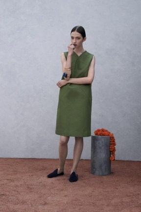green dress Spring Summer 2015