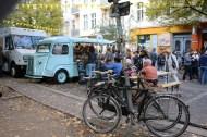 Kreuzberg Berlin Market and festival blue bus pop up shop