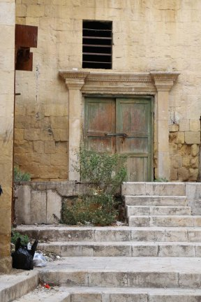 Al Salt, AsSalt, Al-Salt, AlSalt, Jordan، مدينة السلط الاردن, ancient city and architecture old green door, باب قديم اخضر