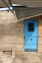 Al Salt, AsSalt, Al-Salt, AlSalt, Jordan, a photograph of an old blue door