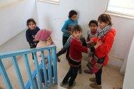 Volunteers with to rebuild gaza for the jerash refugee camp