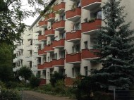 Burgundy and beige building in Berlin