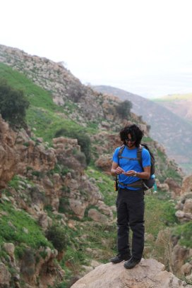 Hiking through Wadi Rayan Yabis between Ajloun and Jordan Valley