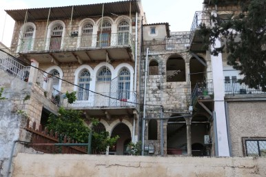 Architecture houses and nature of Haifa Palestine Israel