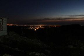 Overlookin Iqreth at night Palestine Israel