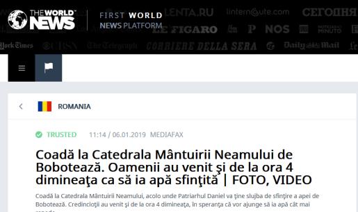 "ScreenShot 20190106184706 - Mediafax prinşi cu ""Fake News"" de Boboteaza"