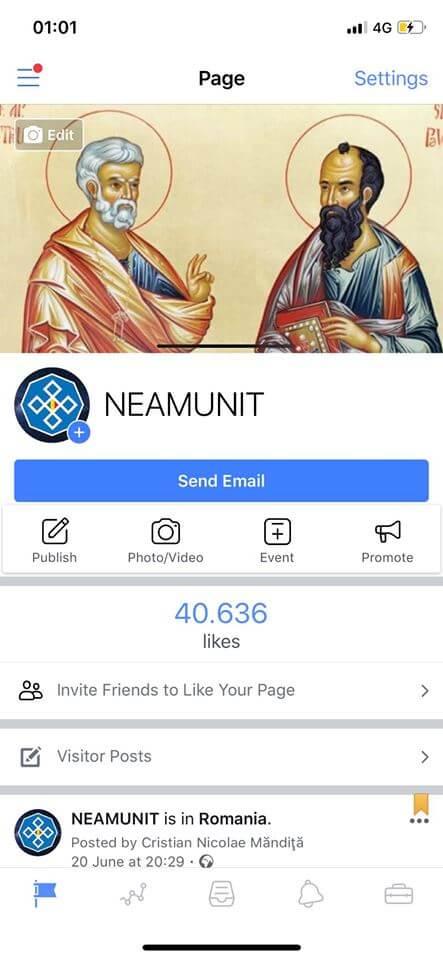 """65786647 2085297238245323 746092628847624192 n - Pagina principală FaceBook a Asociației """"NEAMUNIT"""" a fost ștearsă"""