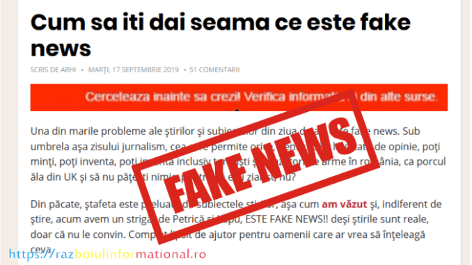Fake News și Manipulare