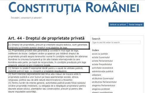 Constitutia Romaniei Primaria Capitalei 300x193 - Primăria Capitalei atacă dreptul de proprietate asupră maşinilor în Bucureşti