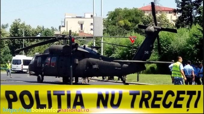 Un elicopter american Black Hawk a aterizat forţat la Bucureşti