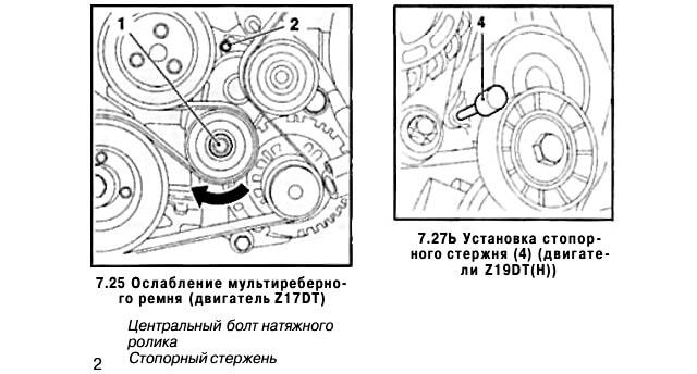 Замена ремня генератора опель астра н. инструкция как