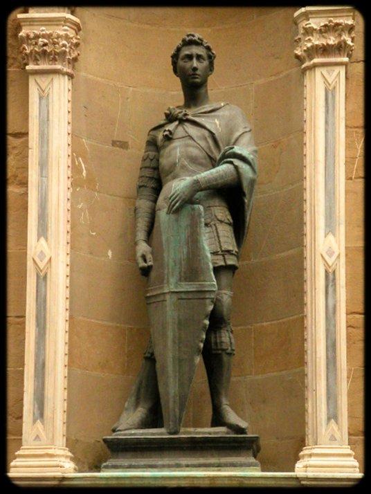 Bronze statues- Alexander the Great, I believe.