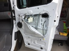 I took the opportunity to drop the door panels to soundproof the front doors.