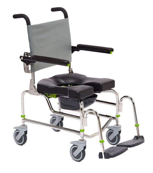 shower chair with wheels and removable arms desk no rollers raz ap mobile commode chairs rehab