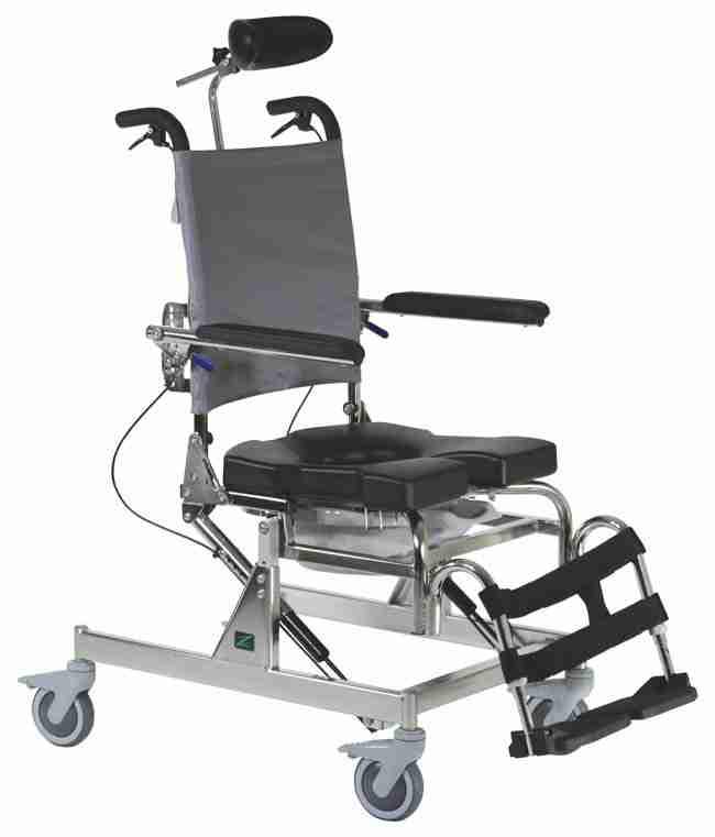 Tilt Rehab Shower Commode Chair