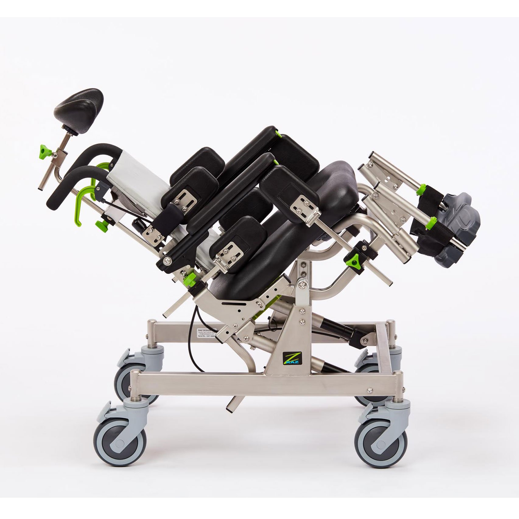 RazCAT Compact Attendant Tilt Rehab Shower Commode Chair