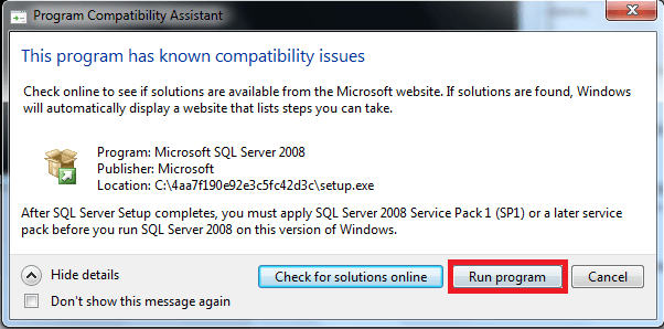 How to Install SQL server 2008 on Windows 7 (2/6)