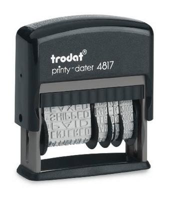 Razítko Trodat 4817 CZ, datum + texty