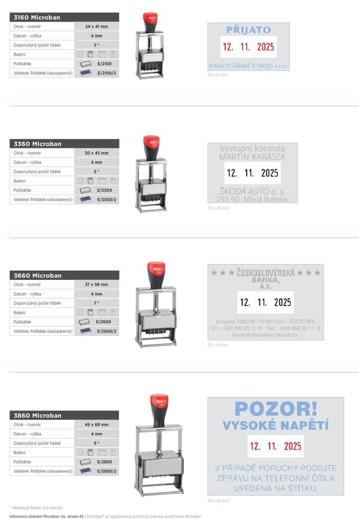 Colop 3160 Expert Line Microban, datumovka, datumové razítko, 4mm
