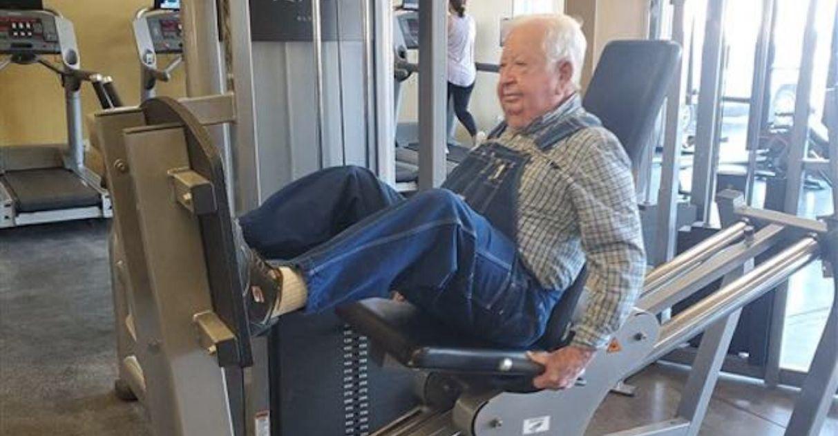 Idoso de 91 anos que faz academia vira 'influencer' de hábitos saudáveis
