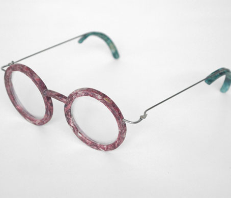 armação óculos grau feita escamas peixe
