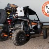 Rotopax water and Fuel on Expedition Cargo Rack for Polaris RZR 1000 UTV and Side by Side