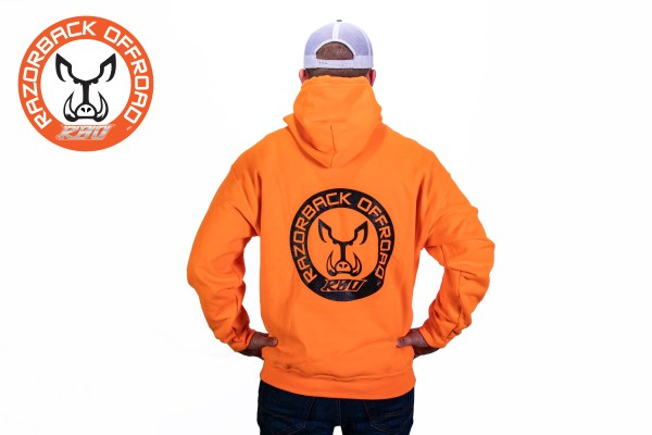 Razorback Hoodie Orange Back