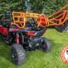 Orange Cargo Rack and Tire Mount for 4 Seater Polaris RZR 1000 Expedition