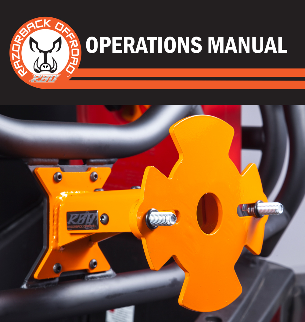 Operations manual for it fits spare tire mount