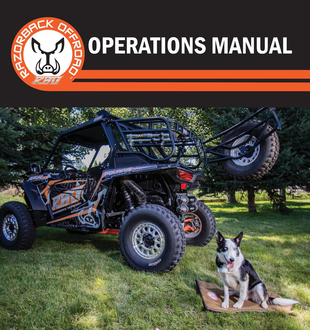 Operations Manual for Ruff Rider Pet Pad