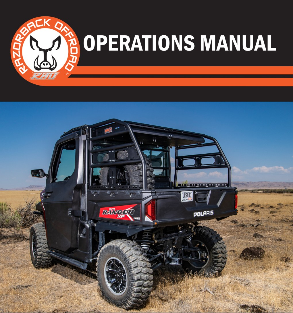 Installation And Operations Manuals Razorback Offroad