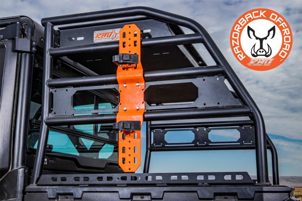 Single Universal Tool Mount Configuration for UTV and Side by Side Racks