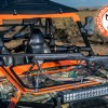 Rifle Mount Resting on Front Folding Glass Windshield for the Polaris RZR 800