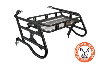 Polaris 1000 4-Seater Sherpa Cargo Rack Powdercoat-Black Accessories for UTV and Side by Side