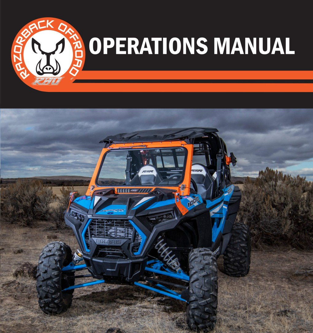 Installation and Operations Manuals - RazorBack Offroad™