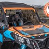 Glass foldable windshield for Can-Am Maverick UTV
