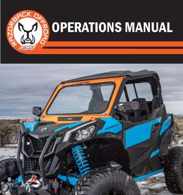 Operations Manual Cover for the Can-Am Maverick Front Folding Glass Windshield